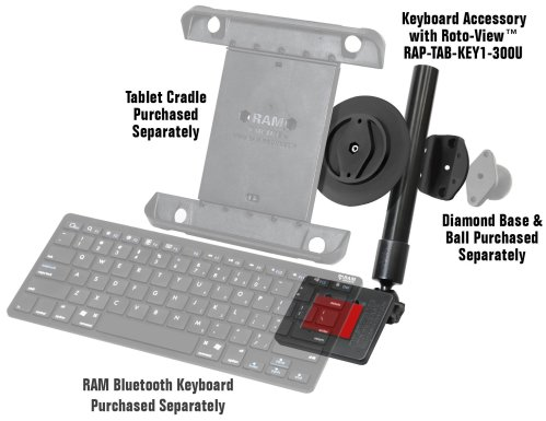 RAM Keyboard Accessory for Tablets with Roto-View