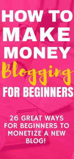 Click through to this post to learn how to make money blogging especially for beginners. I use those awe monetization techniques to make money from my blog each month! You can too!