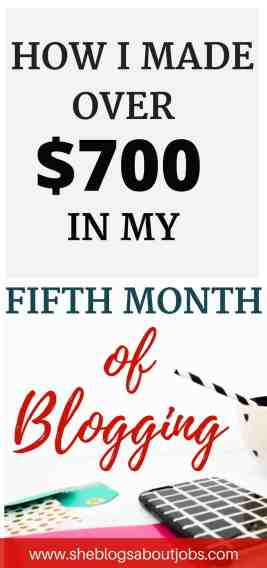 fifth blog income report