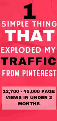 How I exploded my traffic from Pinterest | Pinterest marketing tips| Blogging for beginners | Grow your blog and traffic!