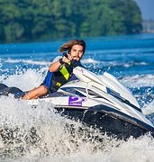 man using jetski