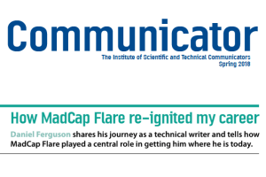 ISTC Communicator Logo with MadCap Flare article header
