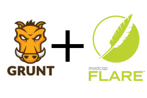 Grunt and Flare logos