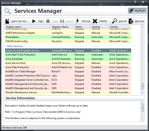 PC Services Optimizer - Services Manager