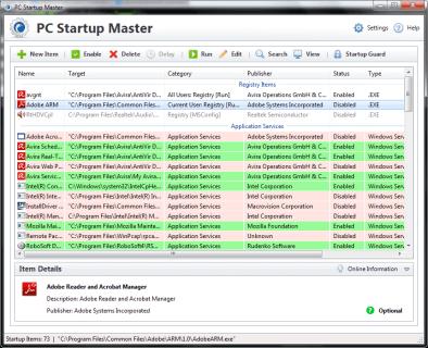 Startup Master 3 - Main Interface