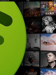 Spotify-App auf dem iPad