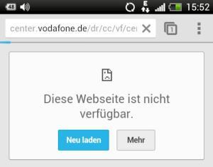 Netzprobleme bei Vodafone