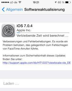 iOS7.0.4 verfügbar