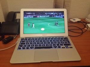 Fußball live mit Sky Go auf dem MacBook Air