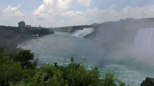 Niagara Fälle von der kanadischen Seite aus gesehen