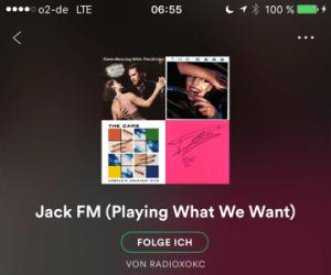 JACK-FM-Playlist auf Spotify