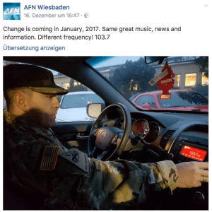AFN Wiesbaden kündigt auf Facebook Frequenzwechsel an (Screenshot: SmartPhoneFan.de)