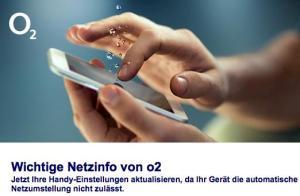 o2 informiert über bevorstehenden Netz-Umbau