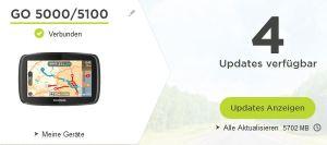 TomTom Go 5000 wieder auf dem aktuellen Stand