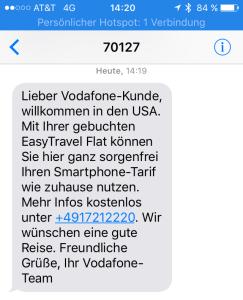 Späte Roaming-Info von Vodafone