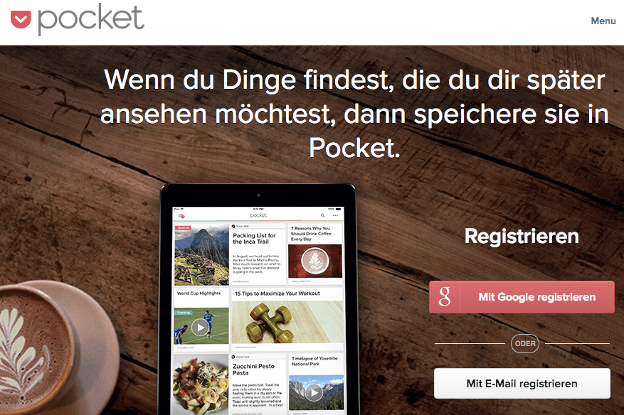 """Read it later"" als ""Pocket"" wiederentdeckt (Screenshot: SmartPhoneFan.de)"