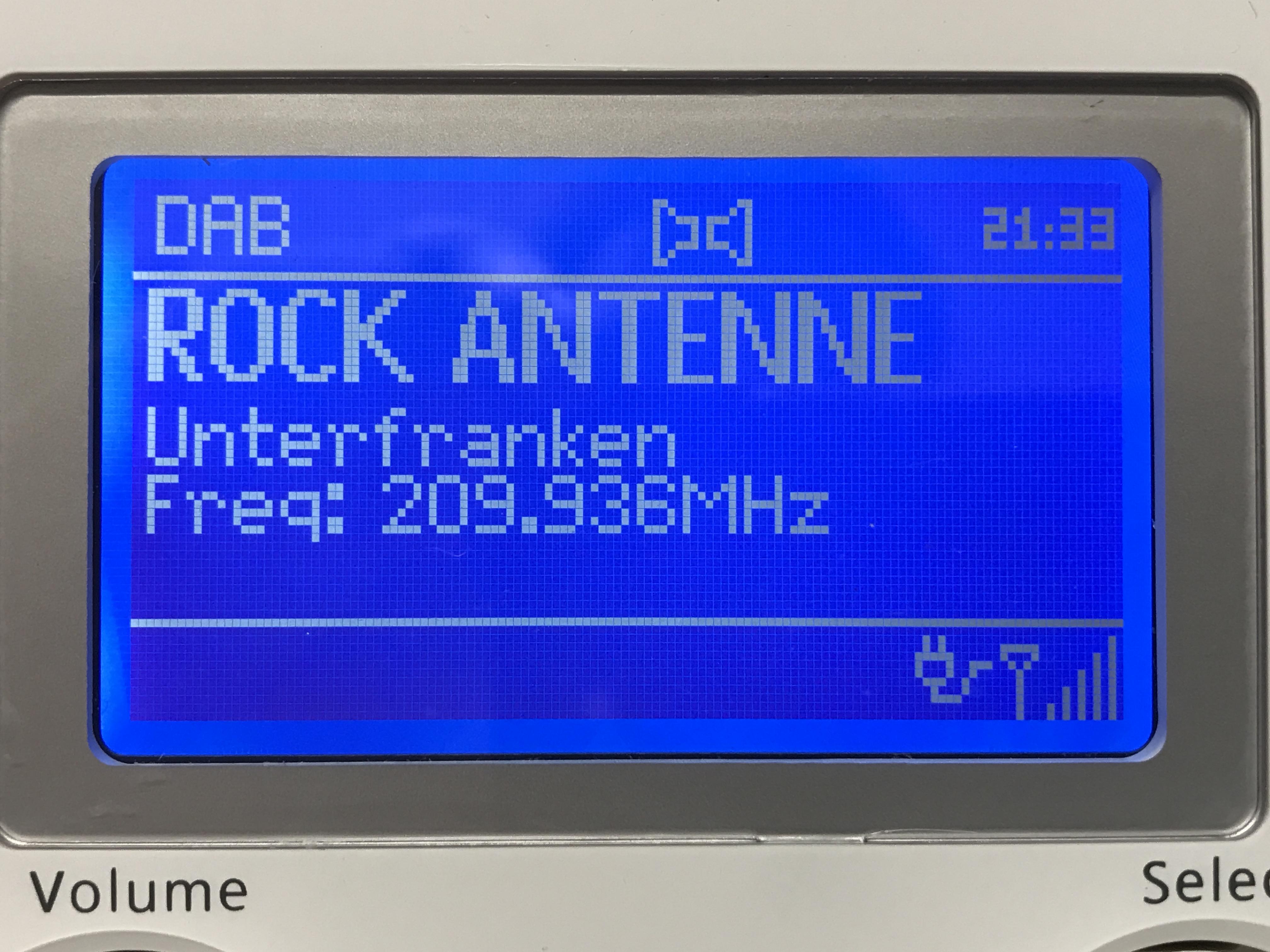 Rock Antenne im DAB+ Multiplex Unterfranken