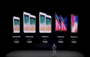 Alle aktuellen iPhones in der Übersicht (Foto: Apple-Livestream via teltarif.de)