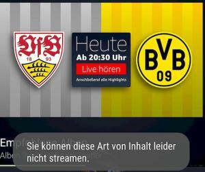 Kein Fußball-Streaming zum Chromecast möglich