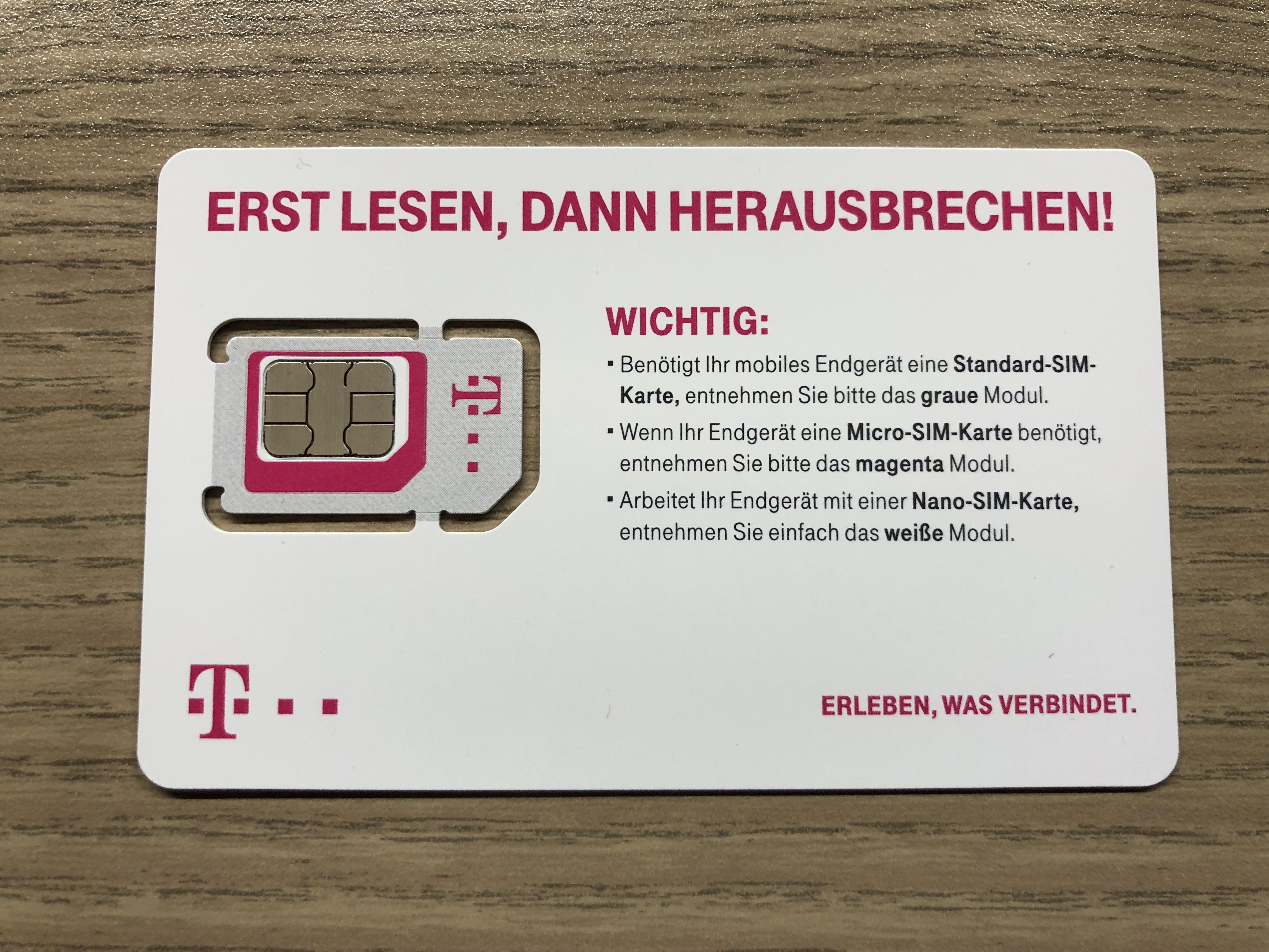 Die neue Telekom-MultiSIM ist da