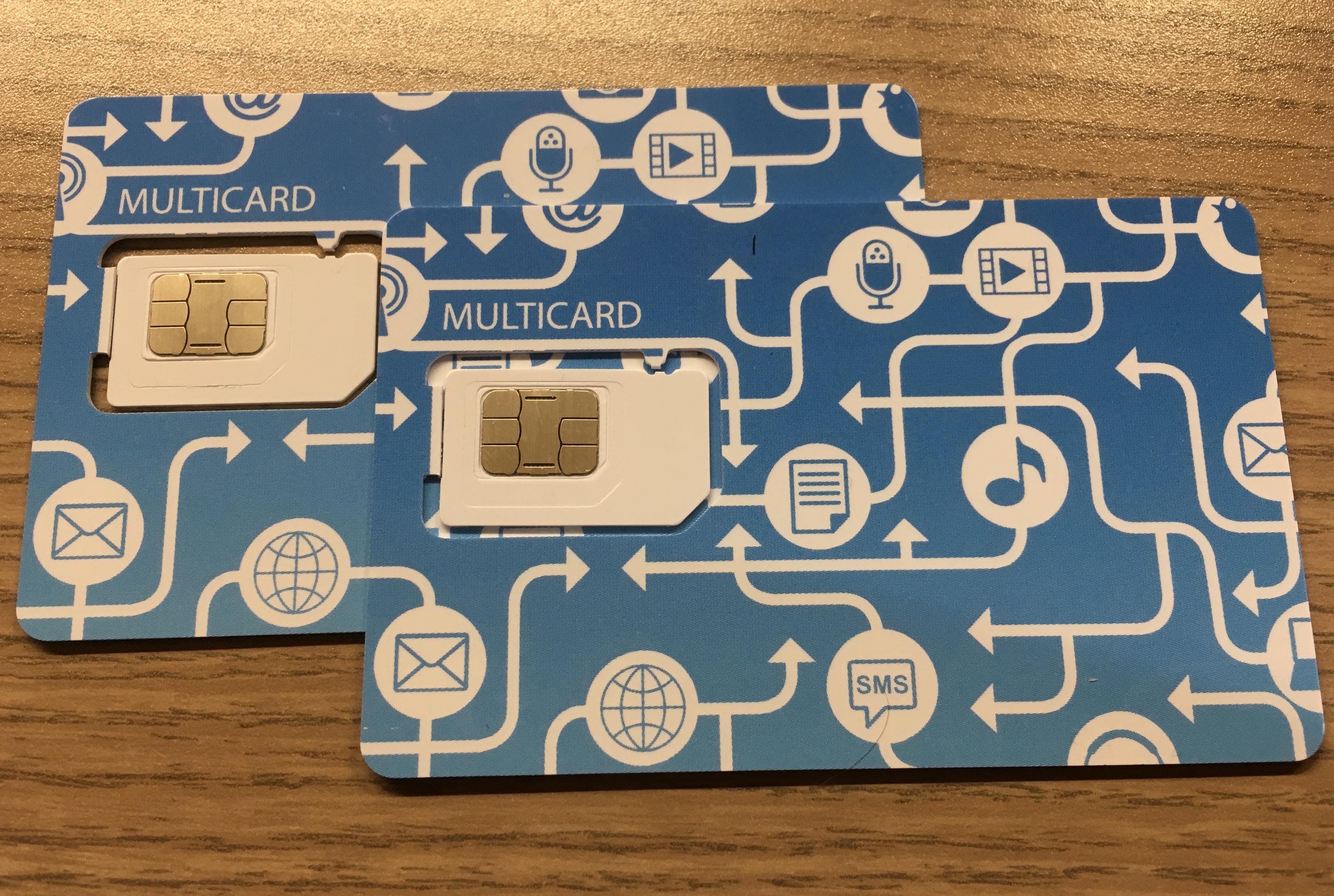 Beim LTE 3000 von simply ist auch eine MultiCard inklusive