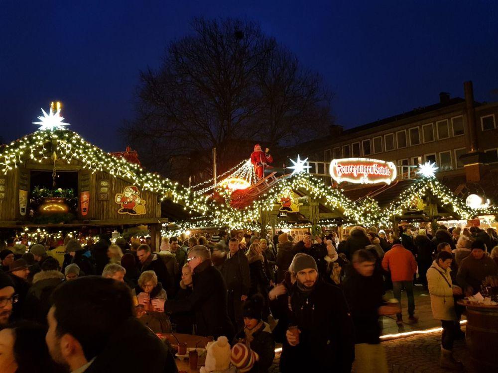 Auf dem Bielefelder Weihnachtsmarkt