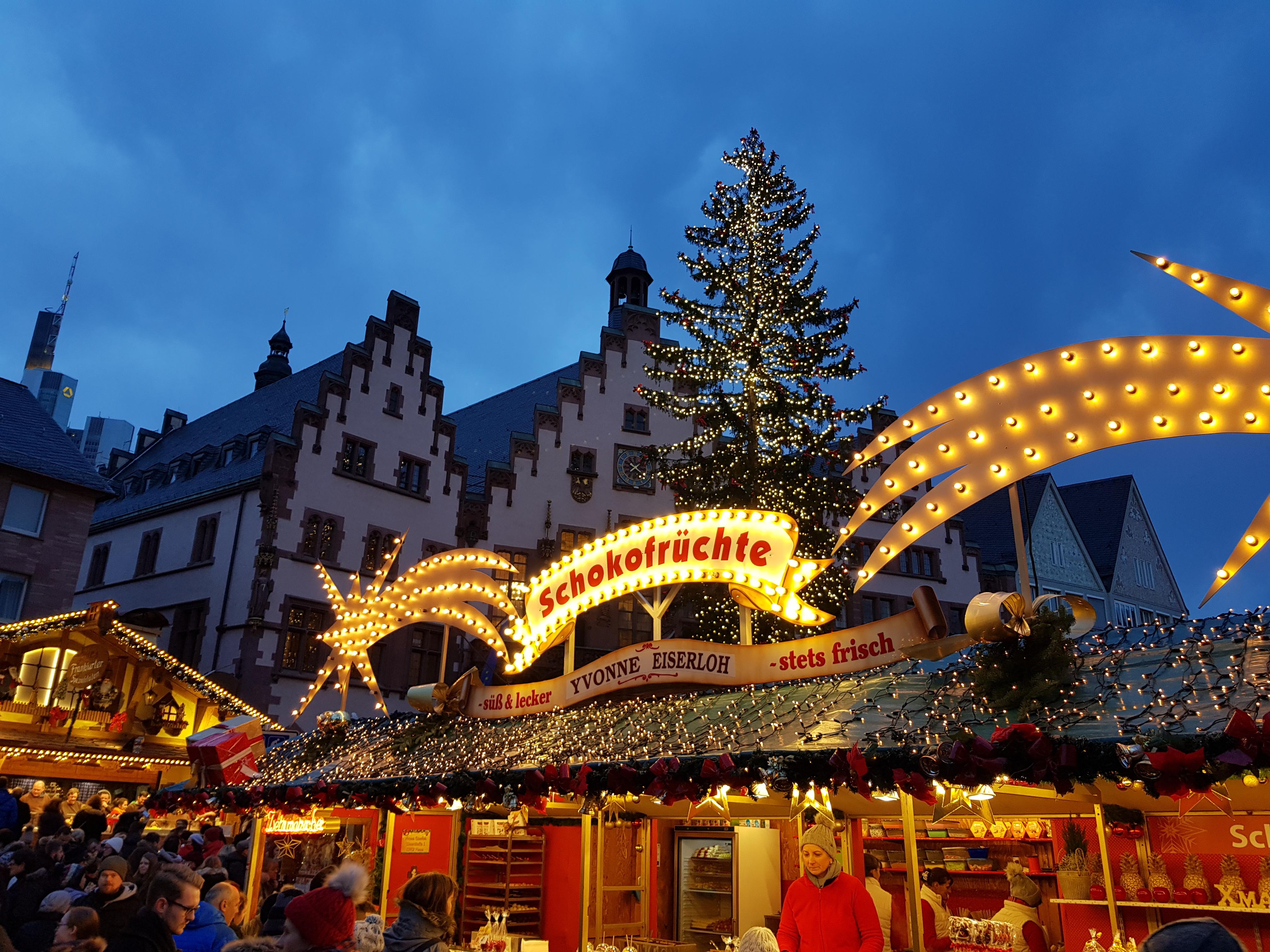 Besuch auf dem Frankfurter Weihnachtsmarkt