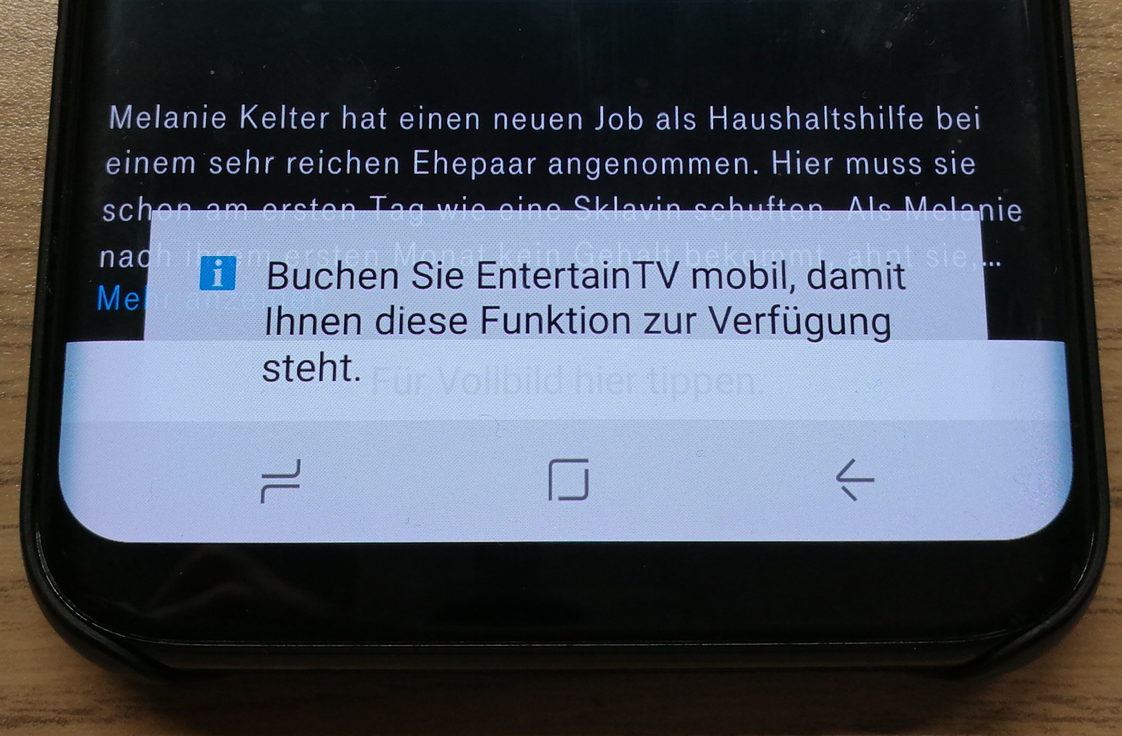 EntertainTV mobil nicht mehr verfügbar