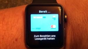 Apple Pay auf der Apple Watch