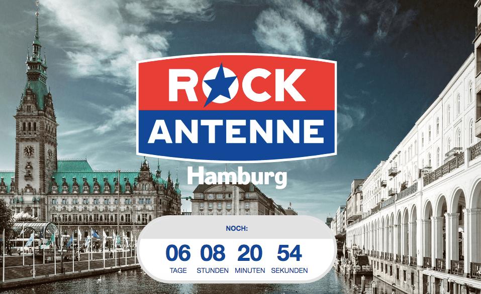 Rock Antenne Hamburg vor Sendestart (Screenshot: SmartPhoneFan.de)