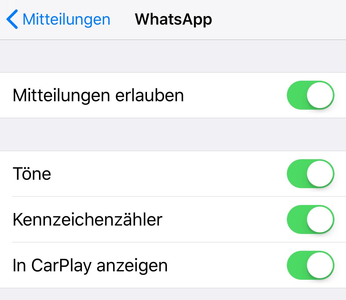 WhatsApp bei CarPlay abschalten (Foto: SmartPhoneFan.de)
