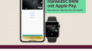 Hanseatic Bank kündigt Apple Pay bereits an (Foto: Hanseatic Bank, Screenshot: SmartPhoneFan.de)