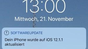 iOS 12.1.1 Beta 3 installiert (Foto: SmartPhoneFan.de)