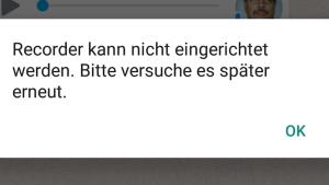 Fehlermeldung der geklonten WhatsApp-Version (Foto: SmartPhoneFan.de)
