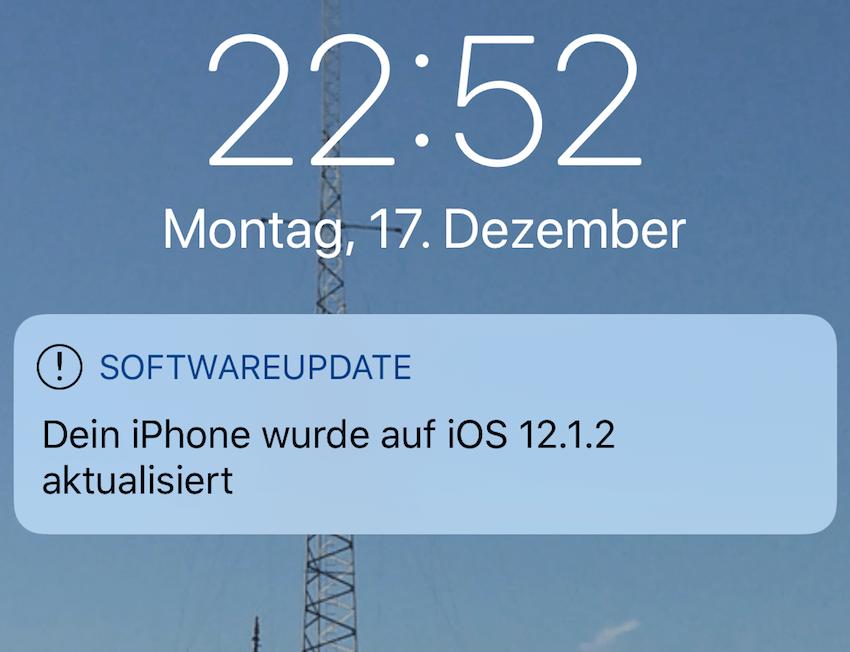 iOS 12.1.2 installiert (Foto: SmartPhoneFan.de)