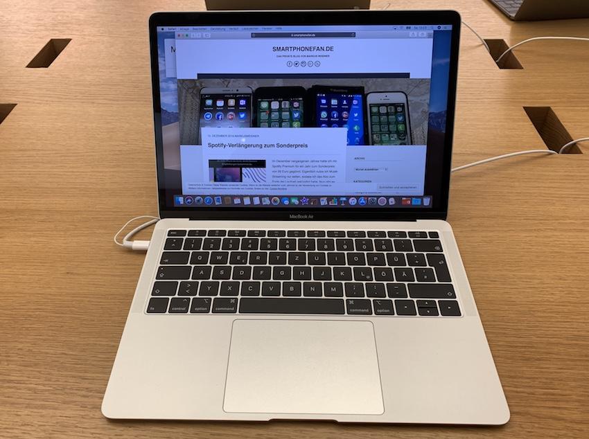 MacBook Air 2018 (Foto: SmartPhoneFan.de)