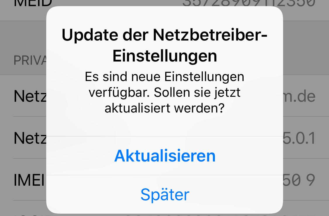 Neue Netzbetreiber-Einstellungen am iPhone XS Max (Foto: SmartPhoneFan.de)