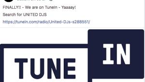 United DJs Radio jetzt bei TuneIn Radio (Screenshot: SmartPhoneFan.de)