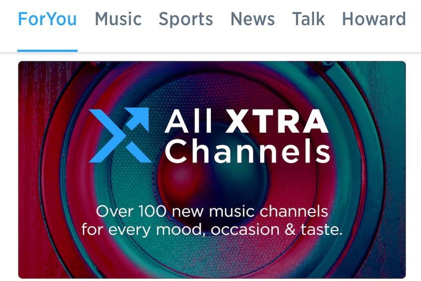 Xtra Channels bei SiriusXM (Foto: SmartPhoneFan.de)