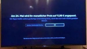Netflix-Einblendung am TV-Schirm (Foto: SmartPhoneFan.de)