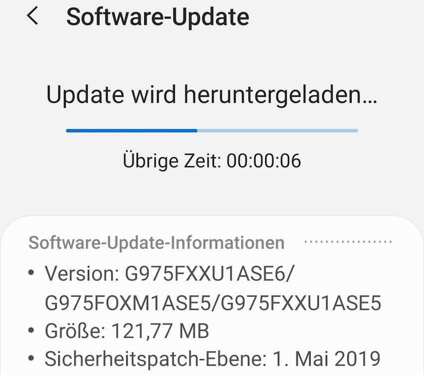 Update für das Update (Foto: SmartPhoneFan.de)