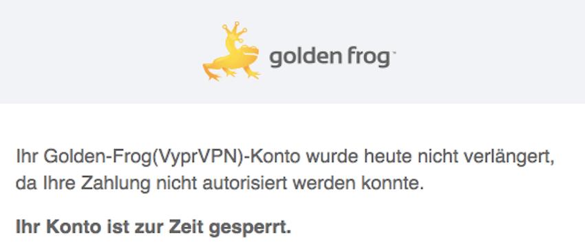 VPN-Verlängerung dieses Mal nicht automatisch (Foto: SmartPhoneFan.de)