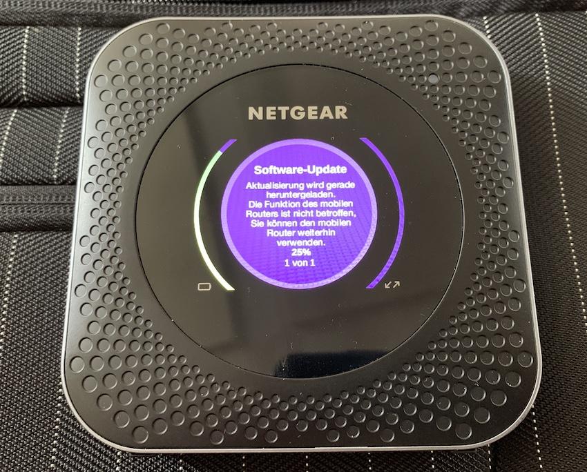 Update für den Netgear Nighthawk M1 (Foto: SmartPhoneFan.de)