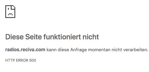 Reciva-Portal ausgefallen (Foto: SmartPhoneFan.de)
