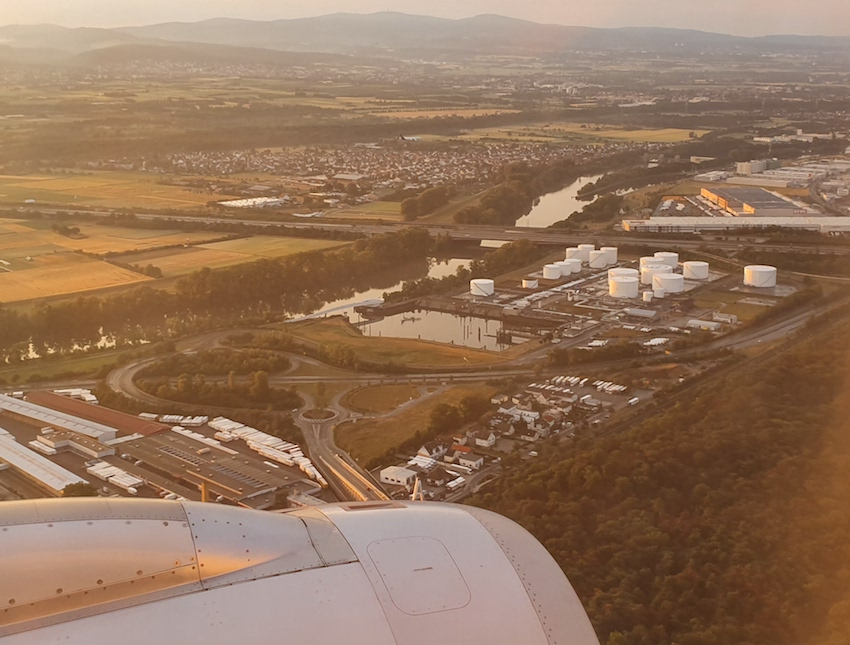 Landeanflug auf Frankfurt am Main (Foto: SmartPhoneFan.de)