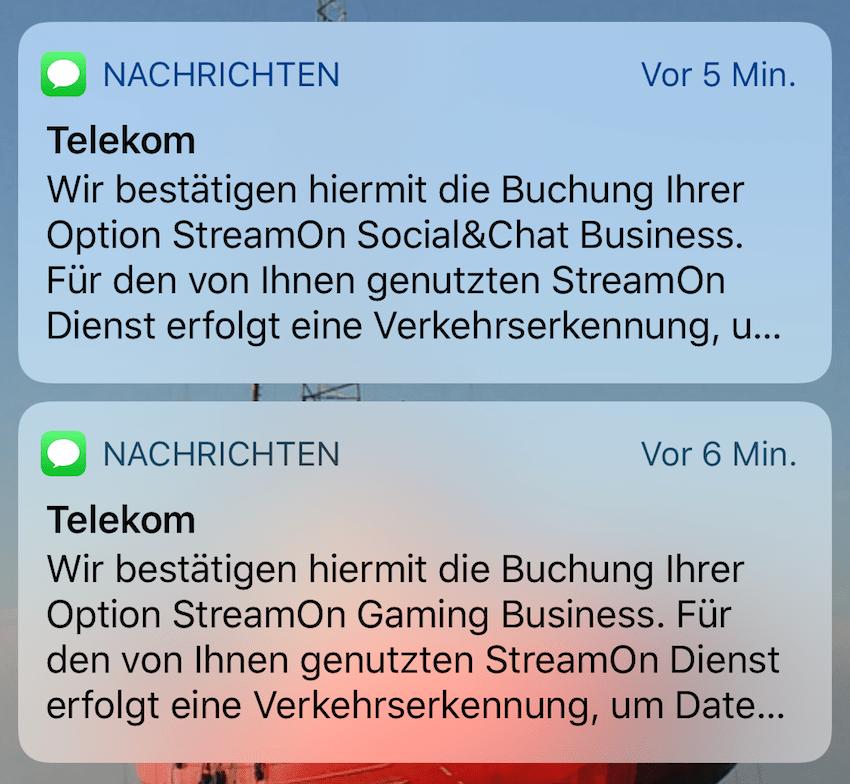 Neue StreamOn-Optionen gebucht (Foto: SmartPhoneFan.de)