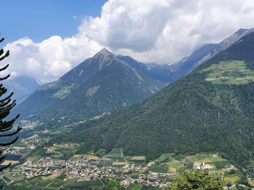 Blick von Schenna ins Tal (Foto: SmartPhoneFan.de)