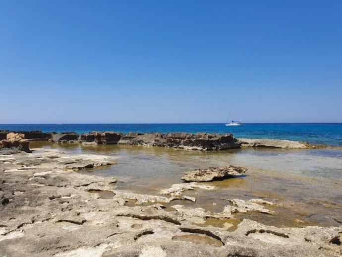 Mittelmeerküste bei Stavros (Foto: SmartPhoneFan.de)