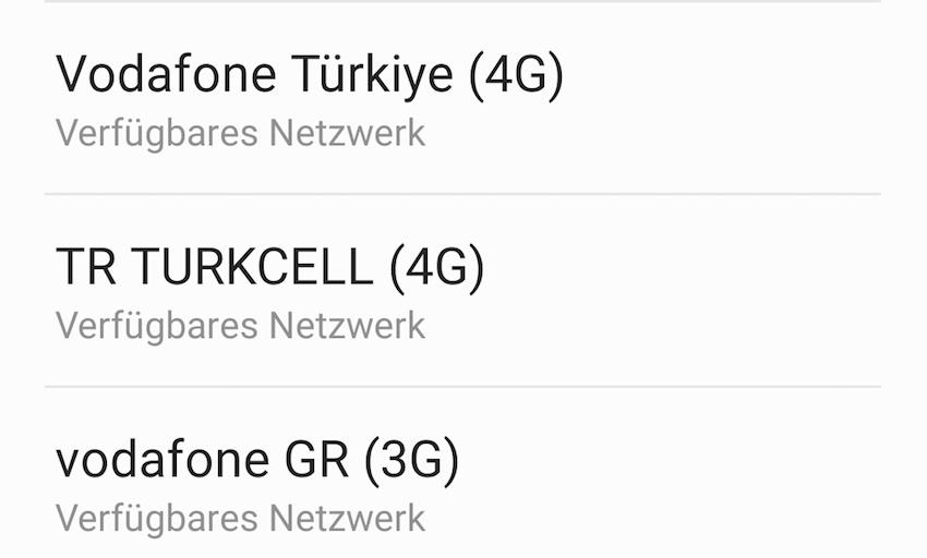 Empfang türkischer Mobilfunknetze auf Kreta (Foto: SmartPhoneFan.de)