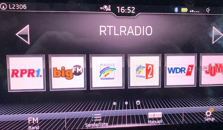 RTL Radio auf 97,0 MHz mit RDS (Foto: SmartPhoneFan.de)